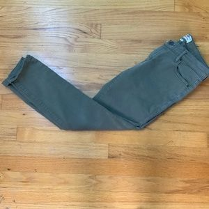 Fossil Skinny  Jeans Cropped Size 26 Sage Green